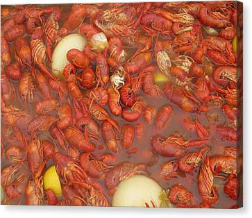 New Orleans French Quarter Cajun Food Seafood By Art504 Canvas Print by Sean Gautreaux