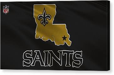 New Orleans Saints Uniform Canvas Print by Joe Hamilton