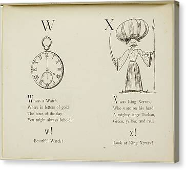 Edition Canvas Print - Nonsense Alphabets By Edward Lear. by British Library