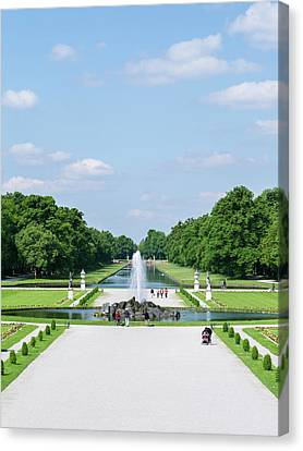 Ally Canvas Print - Nymphenburg Palace And Park In Munich by Martin Zwick
