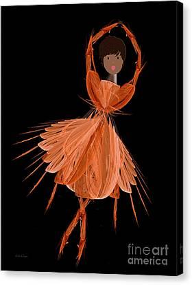7 Orange Ballerina Canvas Print by Andee Design