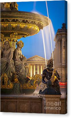 Paris Fountain Canvas Print by Brian Jannsen