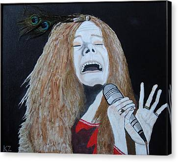 Canvas Print featuring the painting Piece Of My Heart. Janis. by Ken Zabel