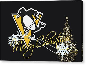 Pittsburgh Penguins Canvas Print by Joe Hamilton