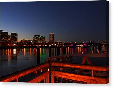 Portland Waterfront Canvas Print by Jean-Jacques Thebault