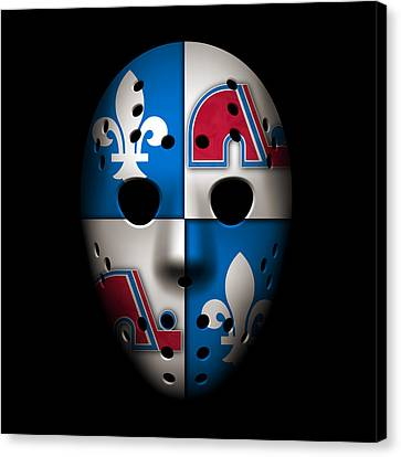 Quebec Nordiques Canvas Print by Joe Hamilton