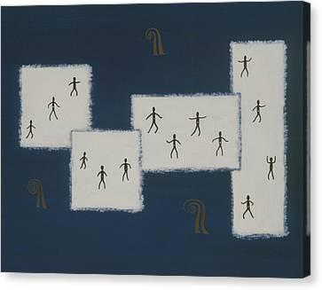 7 Ray World Dance Canvas Print