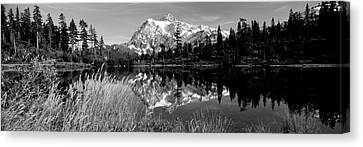 Reflection Of Mountains In A Lake, Mt Canvas Print by Panoramic Images