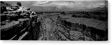 River Passing Through A Canyon Canvas Print by Panoramic Images