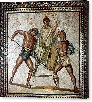 Roman Gladiators Canvas Print by Granger