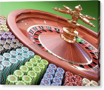 Roulette Wheel Canvas Print