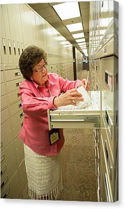 Genealogy Canvas Print - Salt Lake City Genealogical Research by Jim West