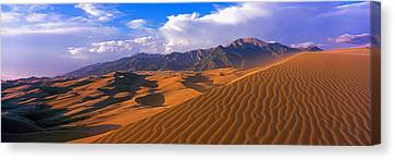 Sand Dunes In A Desert, Great Sand Canvas Print