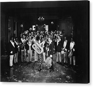Tubist Canvas Print - Silent Film Still: Music by Granger