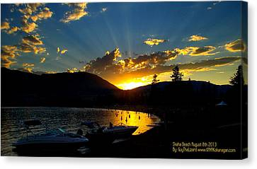 Skaha Lake Sunset Canvas Print by Guy Hoffman