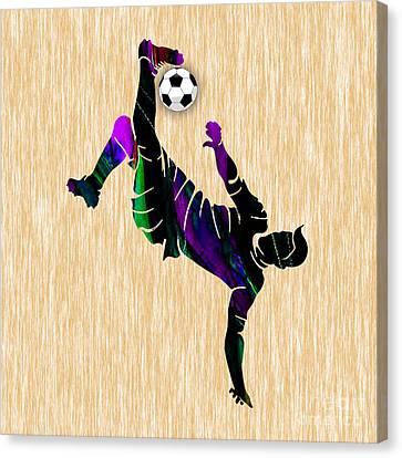 Soccer Canvas Print - Soccer by Marvin Blaine