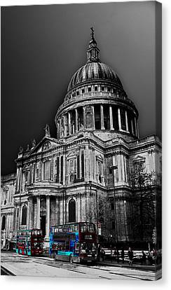 St Pauls Cathedral London Art Canvas Print by David Pyatt