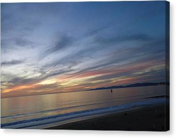 Sundown At Redondo Canvas Print