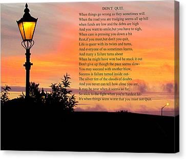 Sunset  Canvas Print by Joyce Woodhouse