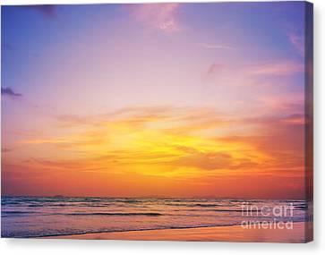 Twilight Views Canvas Print - Sunset On Phiphi Island by Atiketta Sangasaeng