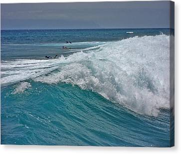 Surfing. Canary Islands. Canvas Print by Andy Za