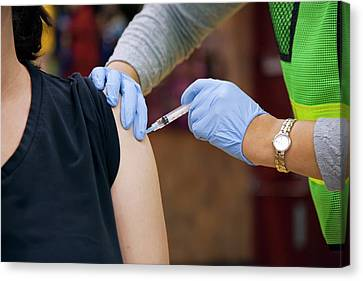 Swine Flu (h1n1) Vaccination Canvas Print by Jim West