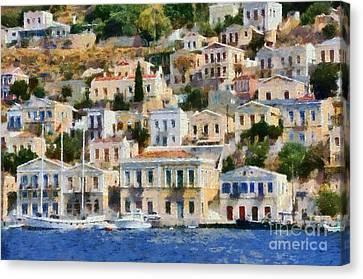 Symi Island Canvas Print by George Atsametakis
