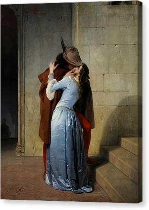 The Kiss Canvas Print by Francesco Hayez