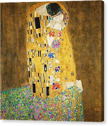 The Kiss Canvas Print - The Kiss by Masterpieces Of Art Gallery