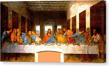 Gospel Of Matthew Canvas Print - The Last Supper  by Leonardo da Vinci