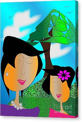 Together Canvas Print by Iris Gelbart