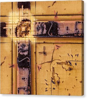 Train Art Abstract Canvas Print