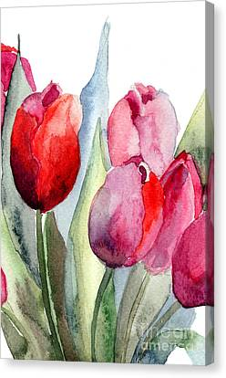 Tulips Flowers Canvas Print