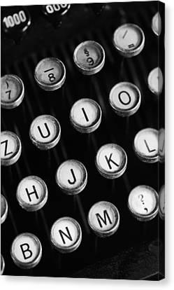 Antik Canvas Print - Typewriter Keys by Falko Follert