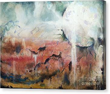 Dreaming Moon Canvas Print by Amy Williams