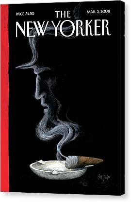 New Yorker March 3rd, 2008 Canvas Print by Ana Juan