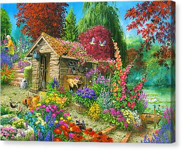 The Garden Shed Variant 1 Canvas Print by John Francis