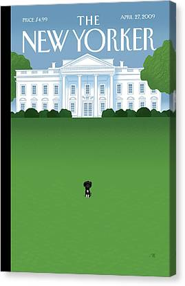 New Yorker April 27th, 2009 Canvas Print by Bob Staake