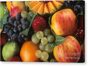 Vitamine Canvas Print - Variety Of Fruits by Bernard Jaubert