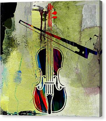 Classical Music Canvas Print - Violin And Bow by Marvin Blaine