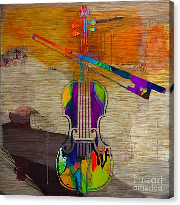 Classical Music Canvas Print - Violin by Marvin Blaine