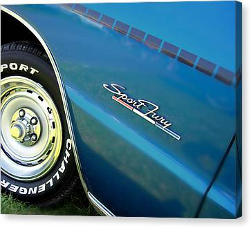 70 Plymouth Sport Fury Gt Details Canvas Print by Thomas Schoeller