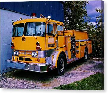 Canvas Print featuring the photograph 710 ....... Fire Dept. by Daniel Thompson