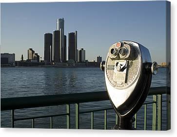Detroit Skyline Canvas Print by Gary Marx