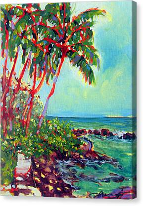Hawaii Canvas Print - Kalenakai Palms by Richard Rochkovsky