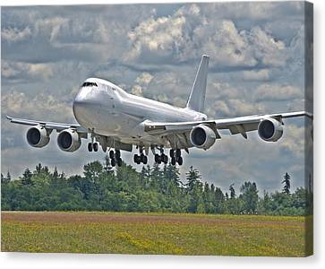 747 Landing Canvas Print by Jeff Cook
