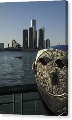 Detroit Skyline Canvas Print