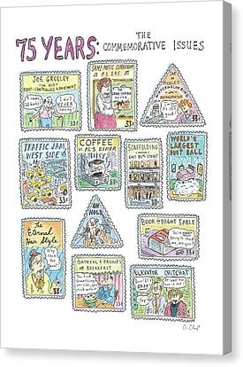 '75 Years:  The Commemorative Issues' Canvas Print by Roz Chast