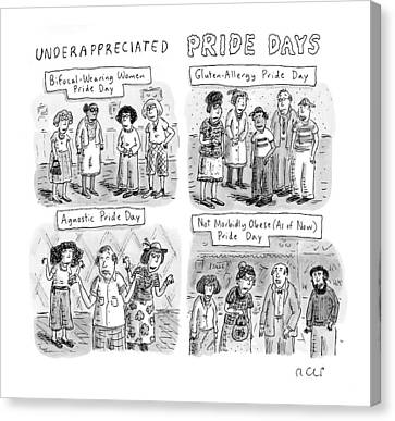 New Yorker July 6th, 2009 Canvas Print by Roz Chast