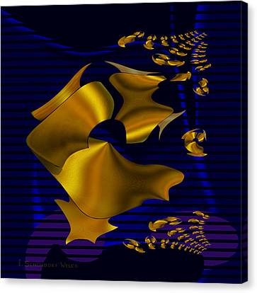 780 - Golden Foil Canvas Print by Irmgard Schoendorf Welch